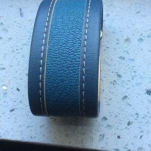 Louis Vuitton Jewelry - Authentic leather/gold cuff bracelet Louis Vuitton
